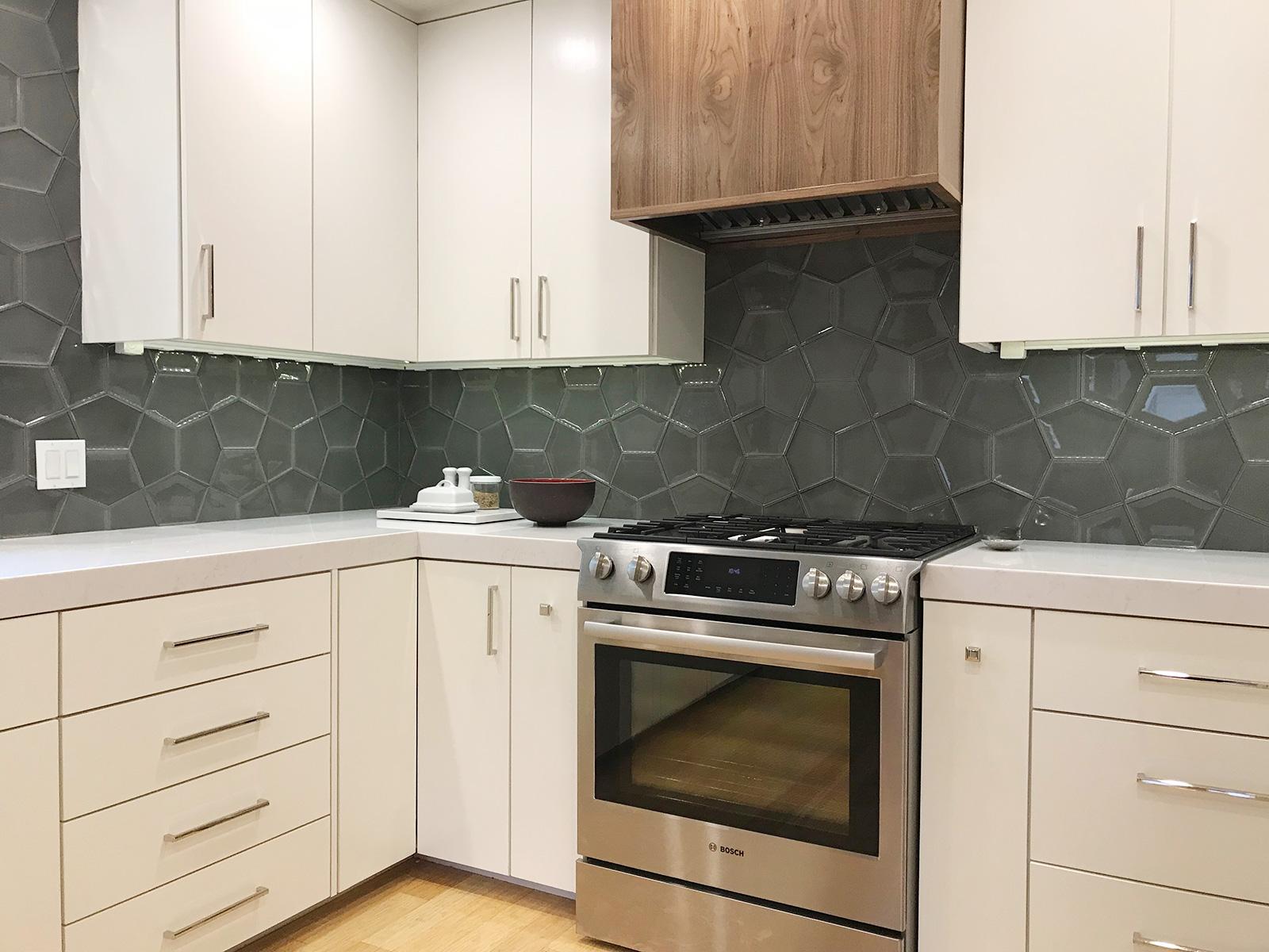 Hood Surround and Corner Cabinets